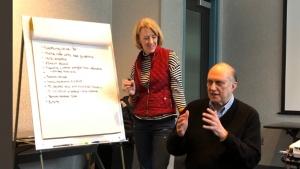 Dr. Drossman and Johannah Ruddy discussing DGBI